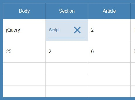 Lightweight jQuery Plugin For Editable Table Cells - HeavyTable.js