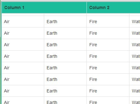 Lightweight jQuery Plugin For Fixed Table Headers