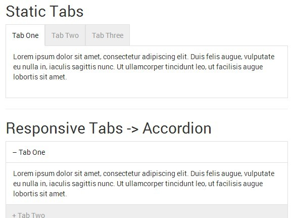 Lightweight jQuery Responsive Tabs To Accordion Plugin - smartTabs