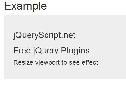 Lightweight jQuery Responsive Text Plugin