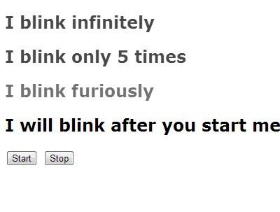 Lightweight jQuery Text Blink Effect Plugin - Modern Blink