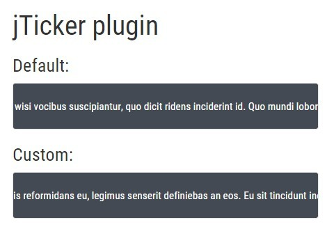 Lightweight jQuery Text Ticker/Scroller Plugin - jticker