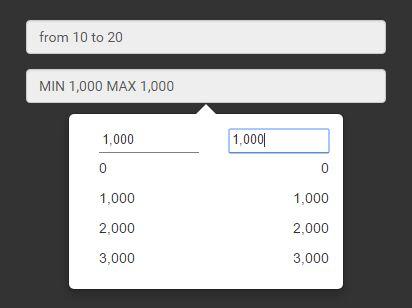 List-style Range Selector Plugin For Bootstrap - bootstrap-range