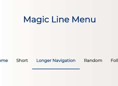 Magic Line Navigation Effect With jQuery And CSS3