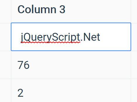 Make HTML Table Editable - jQuery Table.js