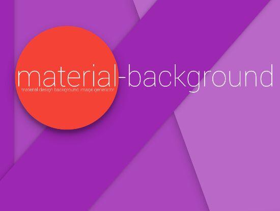 Random Material Design Background Generator With jQuery
