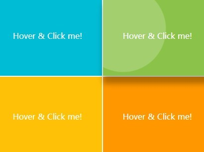 Material Design Hover & Click Effects with jQuery and CSS3