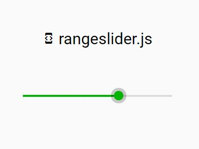 Material Design-style Custom Range Slider Plugin With jQuery - rangeslider.js
