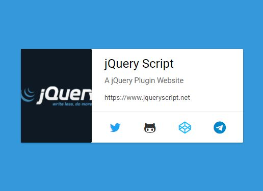 Material Design vCard With jQuery And CSS3 - MCard