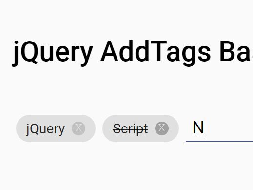 Material Inspired Tag Input Plugin For jQuery - AddTags