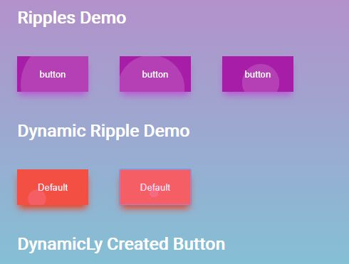 Material Ripple Animation On Click - jQuery rippler.js