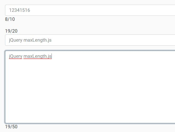 Specify Max Length For Text Fields - jQuery maxLength.js