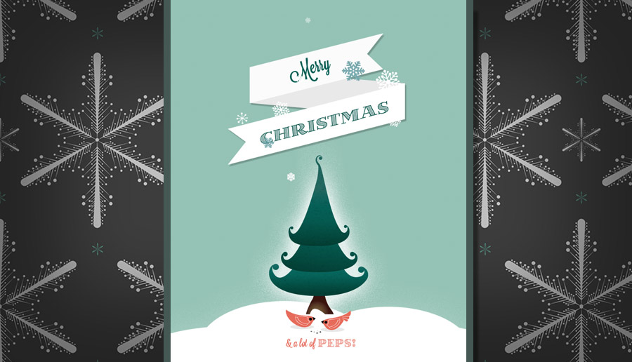 Merry Christmas Parallax Scrolling Effects - skrollr