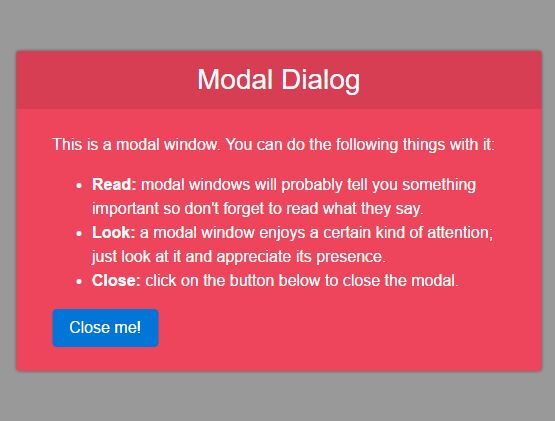 Minimal Animated Modal Popup Plugin For jQuery - JDialog