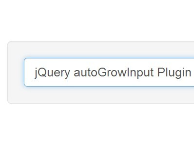 Minimal Auto Growing Input Field Plugin For jQuery