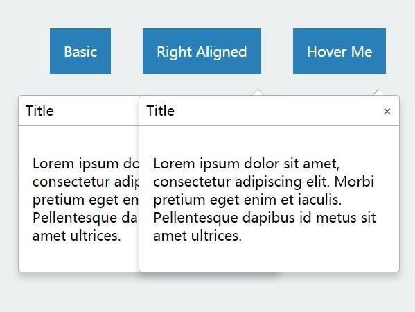 Minimal CSS3 Animated jQuery Popover Plugin