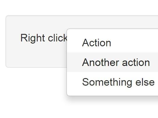 Minimal Context Menu Plugin For jQuery / Bootstrap