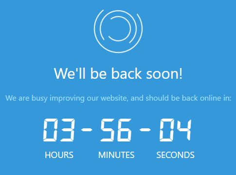 Minimal Countdown Plugin With jQuery And Moment.js - downtime-timer