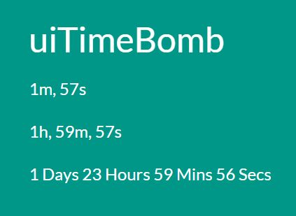 Minimal Countdown Timer Library For jQuery - uiTimeBomb