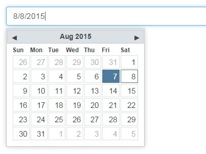 Minimal Date Picker Plugin For jQuery - minical