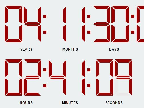 Minimal Digital Countdown Plugin with jQuery and Moment.js