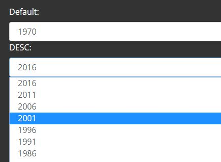 Minimal Dropdown Year Selector With jQuery - year-select