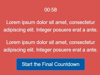 Minimal HTML5 Countdown Timer Plugin For jQuery - Rooster