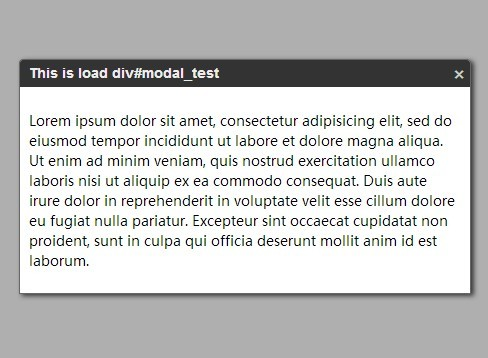 Minimal Modal Popup Plugin with jQuery - modal.js