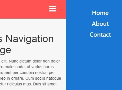 Minimal Off-canvas Navigation with jQuery and CSS3