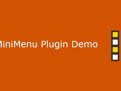 Minimal One Page Navigator Plugin With jQuery - scrollMiniMenu