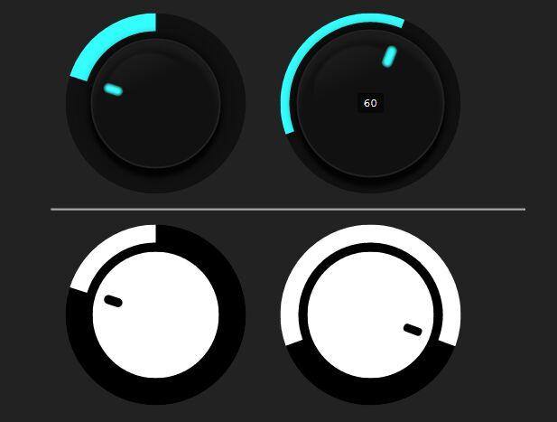 Minimal SVG Based Knob Widget For jQuery UI - Knob.js
