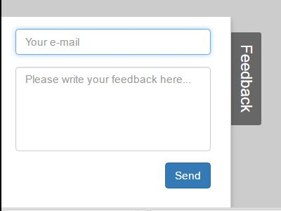 Minimal Side Feedback Form Using Jquery And Bootstrap - Feedback