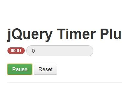 <b>Minimal Stopwatch & Timer Plugin For jQuery</b>