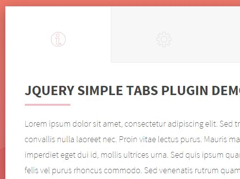 Minimal Tabbed Navigation Plugin with jQuery - Simple Tabs