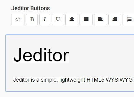 Minimal WYSIWYG Text Editor With jQuery And Bootstrap - Jeditor