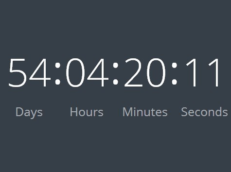 Minimal jQuery Countdown Plugin with Custom Timezone - Countdown Clock