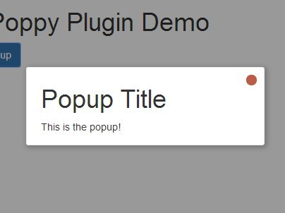 Minimal jQuery Fading Modal Popup Plugin - Poppy