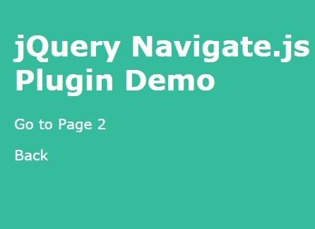 Minimal jQuery Full Window Page Slider Plugin - Navigate.js