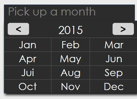 Minimal jQuery Month Picker Plugin - Simple MonthPicker