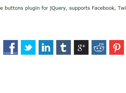 Minimal jQuery Plugin For Social Share Buttons - Sharer
