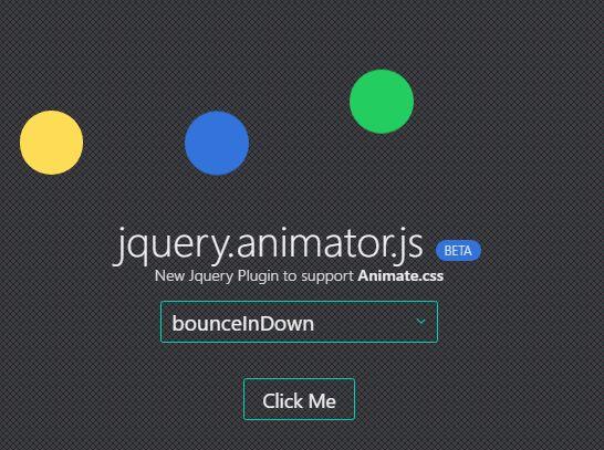 Minimal jQuery Plugin To Control Animate css Animations - Animator