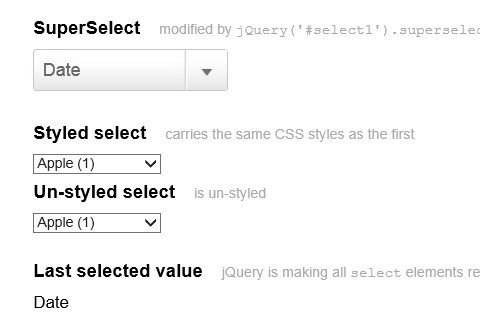 Minimal jQuery Select Box Replacement Plugin - Super Select