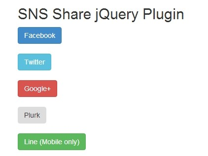 Minimal jQuery Social Media Button Integration - Sns Share