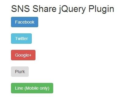 Minimal jQuery Social Media Button Integration - Sns Share