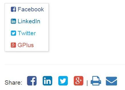 Minimal jQuery Social Sharing Plugin - BEShare