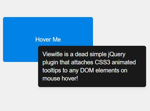 Minimalist Animated Hover Tooltip Plugin with jQuery - Viewitle