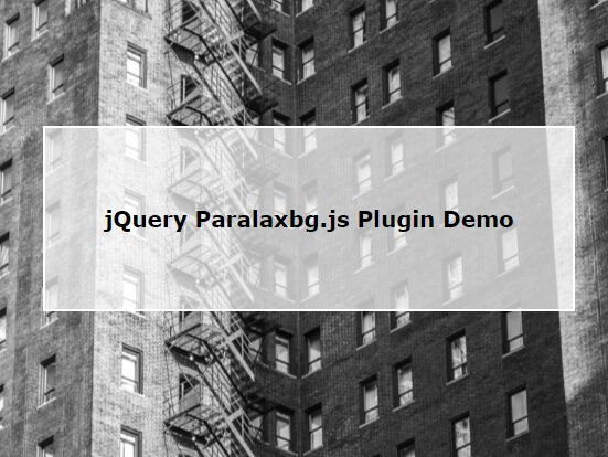 Minimalist Background Parallax Effect with jQuery - Paralaxbg.js