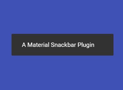 Minimalist Material Snackbar Plugin With jQuery - mSnackbar