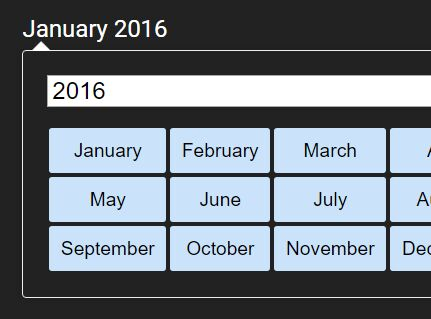 Minimalist Month Picker Plugin with jQuery - monthPicker