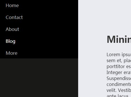 Minimalist Off-canvas Push Menu with jQuery and CSS3